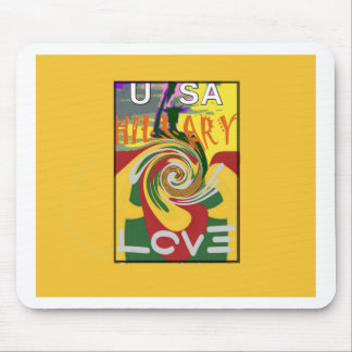 l Love Hillary USA President Stronger Together red Mouse Pad