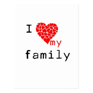 l love my family postcard