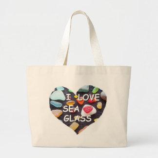 l LOVE SEA GLASS Tote Bag