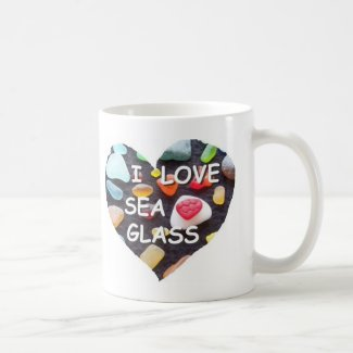 l LOVE SEA GLASS Classic White Coffee Mug