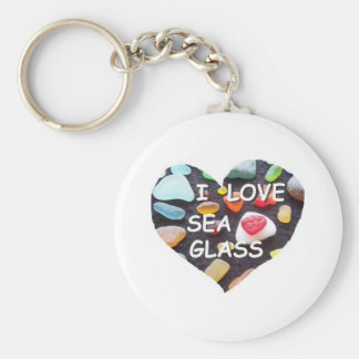 l LOVE SEA GLASS Key Chains