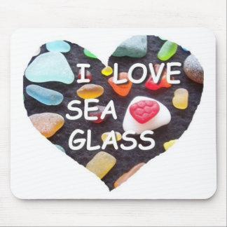 l LOVE SEA GLASS Mouse Pad