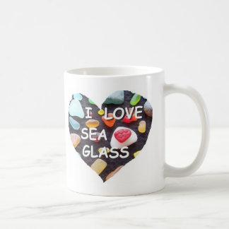 l LOVE SEA GLASS Classic White Coffee Mug