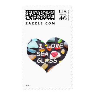 l LOVE SEA GLASS Postage Stamp