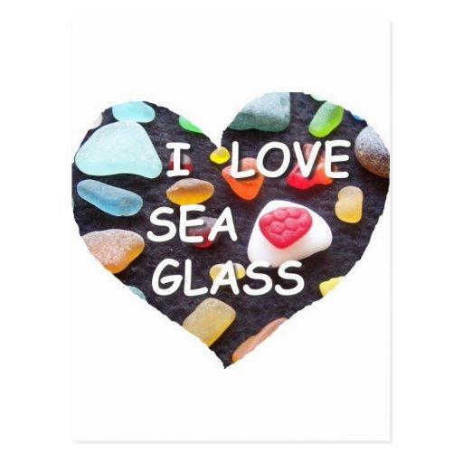 l LOVE SEA GLASS Postcard