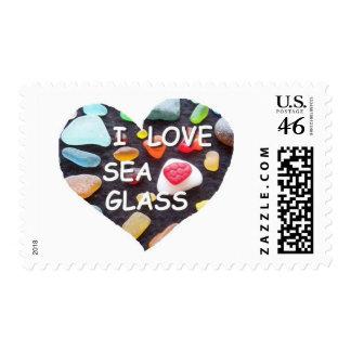 l LOVE SEA GLASS Stamps