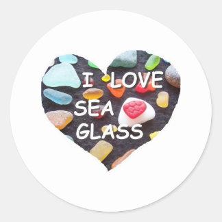 l LOVE SEA GLASS Stickers