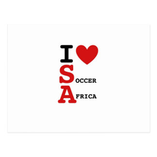 l love soccer afirca,l love soccer and southafrica postcard