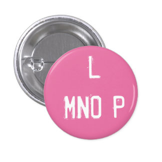 'L MNOP' Alphabet Collectible (#12) Pinback Button