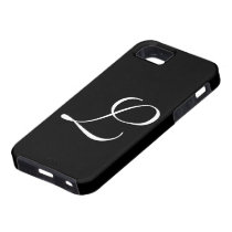 L Monogram Black IPhone 5 Case