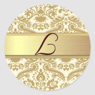 L Monogram Classic Round Sticker