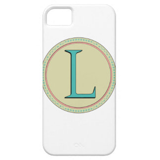 L MONOGRAM LETTER iPhone SE/5/5s CASE