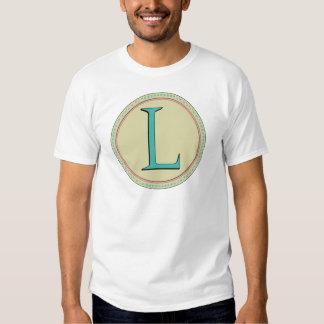 L MONOGRAM LETTER TEE SHIRT