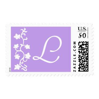 L Monogram (Purple Vine) Postage