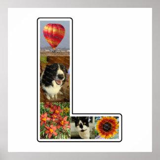 L monograma crea su propio collage de la foto de 5 póster
