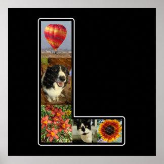 L monograma crea su propio negro del collage de 5 póster