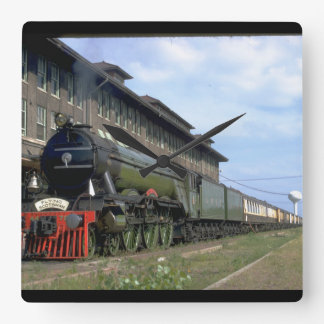 "L&N 4-6-2 with ""Flying Scotsman_Trains Square Wall Clock"