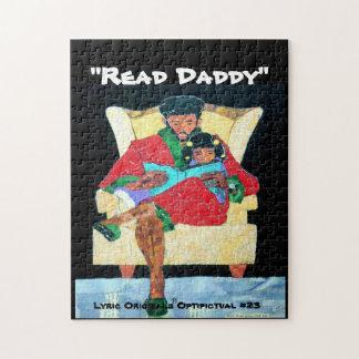 """L.O. Optipictual Puzzle #23 """"Read Daddy"""""""