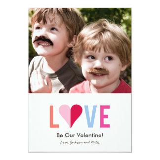 L O V E A7 Valentines Day Photo Card - PINK