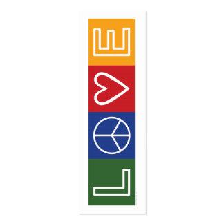L-O-V-E - Bookmark - Business Cards