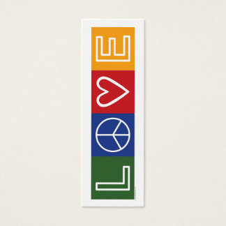 L-O-V-E - Bookmark - Mini Business Card