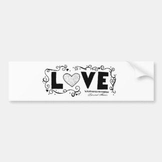 L.O.V.E. Bumper Sticker, TwistedHearts