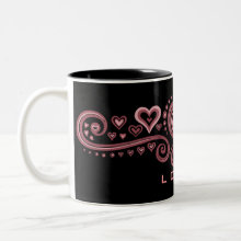 Loved! Mug - Cool design with the word 'Loved'! Perfect for Valentines Day or simply everyday.
