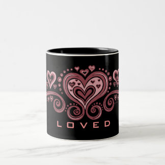 L O V E D! Two-Tone COFFEE MUG