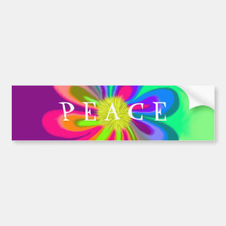 L O V E Flower Bumper Sticker