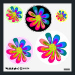 """L O V E Flower Wall Sticker<br><div class=""""desc"""">My retro flower design will bring back memories of the good ol&#39; days if you are old enough to remember the 60&#39;s &amp; 70&#39;s. Or maybe you just like flowers with bright colors. Use the &quot;Customize It&quot; button to add text if needed or you can change the background color on...</div>"""