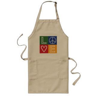 L-O-V-E - Heart and Peace Sign Long Apron