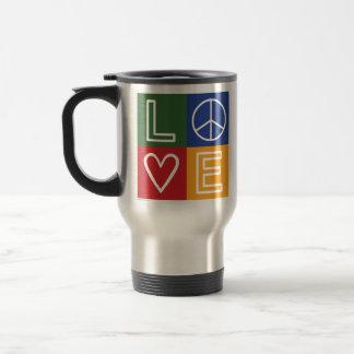 L-O-V-E - Heart and Peace Sign Coffee Mugs