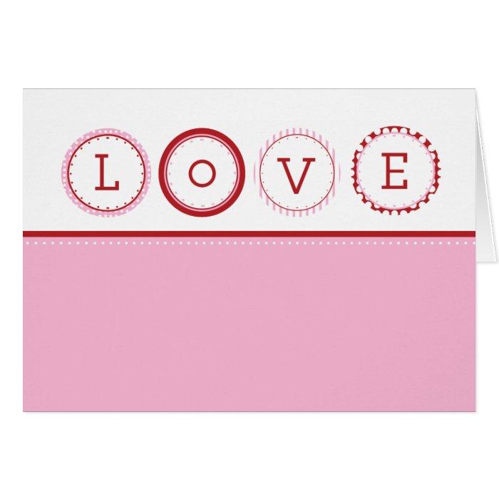 L.O.V.E. -  Pink & Red Card