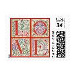 L-O-V-E Postage Stamp ~ Postcard
