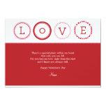"L.O.V.E. - Red & Pink 5"" X 7"" Invitation Card"