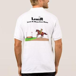 L.O.W.E.R. Men's Polo - Transparent Background