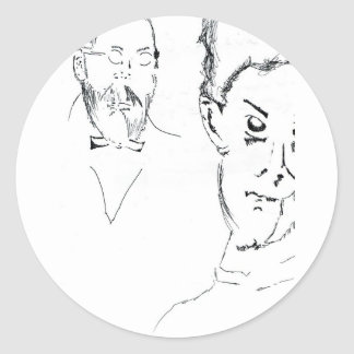 L Obachevsky Reimann Classic Round Sticker