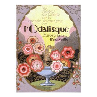 l Odalisque Perfume Label 5.5x7.5 Paper Invitation Card