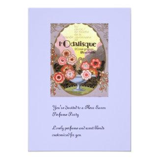 l Odalisque Perfume Label 5x7 Paper Invitation Card