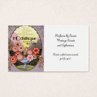 l Odalisque Perfume Label Business Card