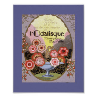 l Odalisque Perfume Label Poster