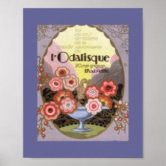 l Odalisque Perfume Label Poster