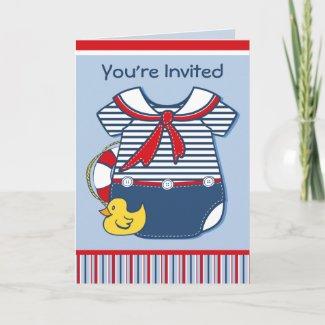 l Onsie Baby Shower Invitation card
