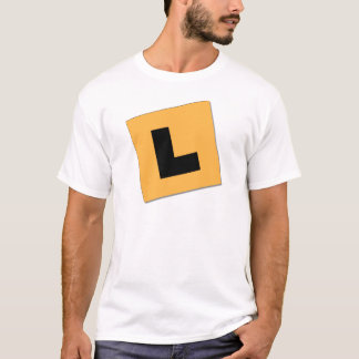 L placas (negro/amarillo) playera