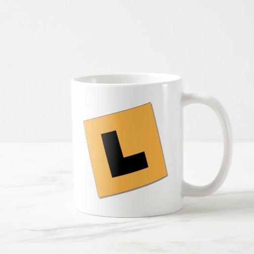 L placas (negro/amarillo) taza de café