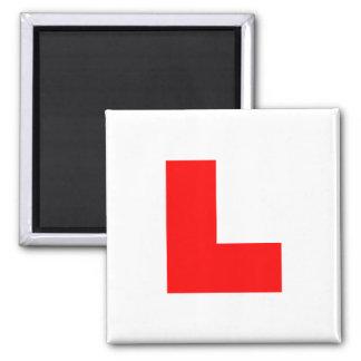 L-Plate Learner Driver / Bachelorette Hen Night 2 Inch Square Magnet