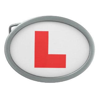 L-Plate Learner Driver / Bachelorette Hen Night Oval Belt Buckles