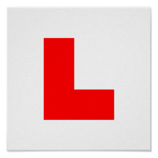 L-Plate Learner Driver / Bachelorette Hen Night Posters