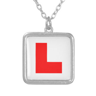 L-Plate Learner Driver / Bachelorette Hen Night Silver Plated Necklace