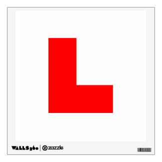 L-Plate Learner Driver / Bachelorette Hen Night Wall Decal